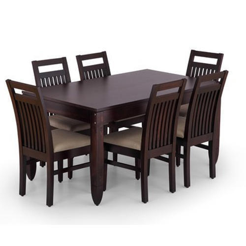Grey Black Six Seater Dining Table Set Rs 32000 Unit Mrk Furniture And Interior Private Limited Id 17159671248