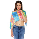 Satin Digital Printed Ruhana Poncho