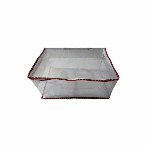 aeebacef45d Non Woven Plain Transparent Saree Cover Bag