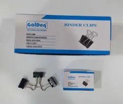 Golden Black Binder Clip - 19mm for Office