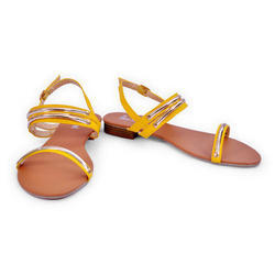 Casual Ladies Fancy Flat Sandals, Size: 36 to 41 (Euro Size)