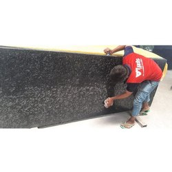 15 Mm Black Polished Granite Slab, For Flooring