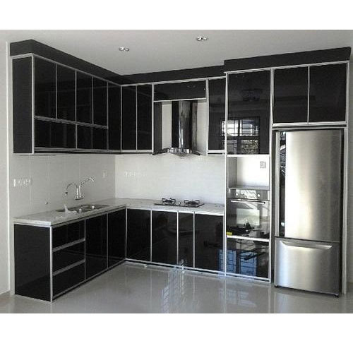 Aluminium Black Aluminum Kitchen Cabinet Vijaya Steels Id 14378033773
