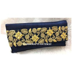 Zari Embroidery Clutch Purse