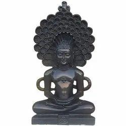 Black Marble Jain Mahaveer Statue