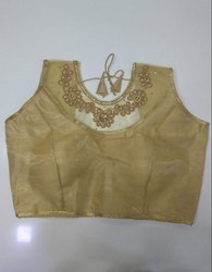 Golden Art Silk Readymade Blouse