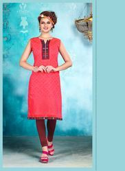 Woman Kora Silk 3/4th Sleeve Printed Kurtis, Size: M, L & XL