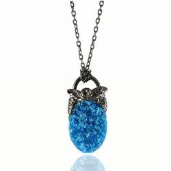 Blue Druzy Pendant