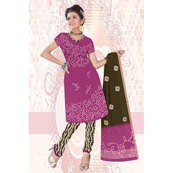 Magenta Bandhani Suit