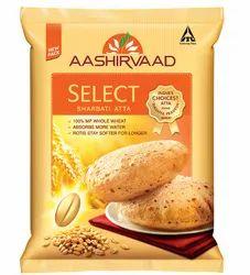 Aashirvaad Atta Aashirvaad Select Sharbati Atta, Packaging Type: Plastic Bag