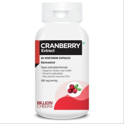 Cranberry Capsules for Urinary Tract Health, Packaging Type: Plastic Box