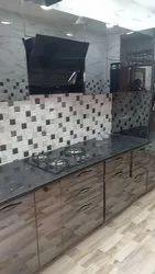 Stainless Steel Black Mirror Modular Kitchen