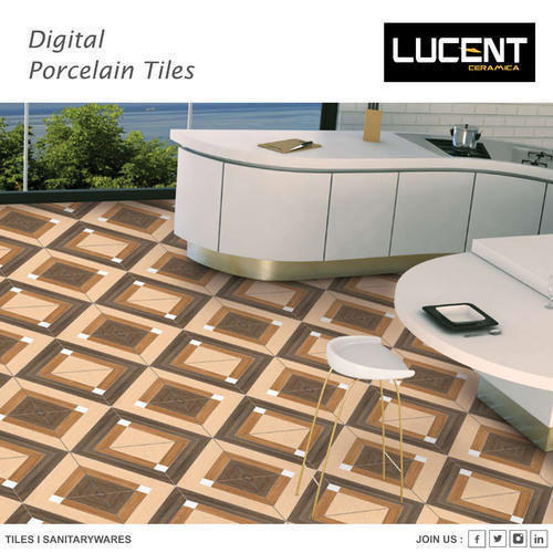 Lucent Porcelain Tiles, Thickness: 8 - 10 mm