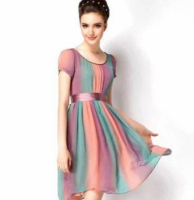 65a2860a0f21 Multicolor Ladies Party Wear Frock