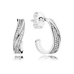 Silver And CZ Diamond Party Designer Silver Earring
