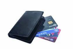 Black Leather Credit Card Holder