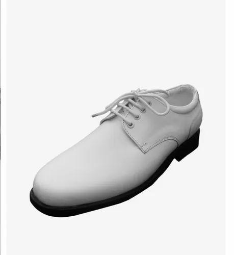 Coast Guard Uniform White Leather Shoes