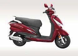 Red Destini 125 Hero Scooter