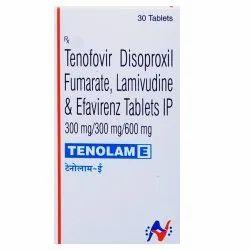 Tenofovir Disoproxil Fumarate,Lamivudine & Efavirenz Tablets IP 300mg (Tenolam-E)