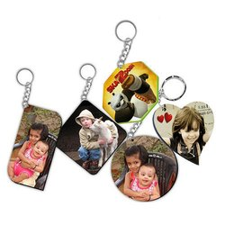 Stainless Steel Sublimation Wooden MDF Keychains, Packaging Type: Box