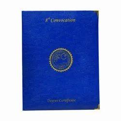 Dark Blue Color Convocation File