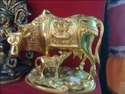 Brass And Gold Polish Cow And Calf