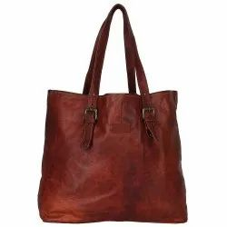 Vintage Design Leather Shoulder Bag