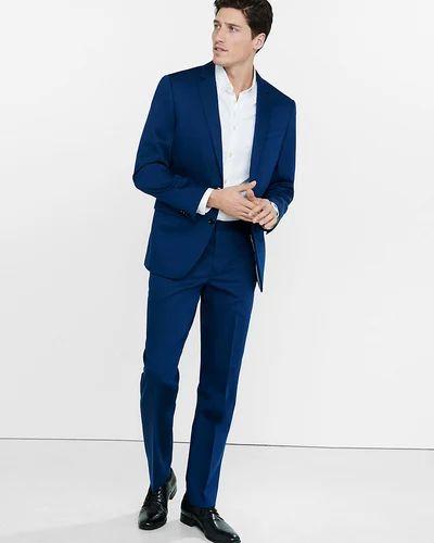 fffb8a531f71 2-Piece Suit Cotton Mens Slim Navy Blue Suit, Rs 4400 /piece | ID ...