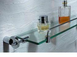 Glass Shelf With Rail-Geometrical (Side Brackets)