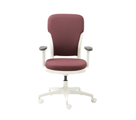 Red And White Godrej Motion High Back Chair Id 18969073091