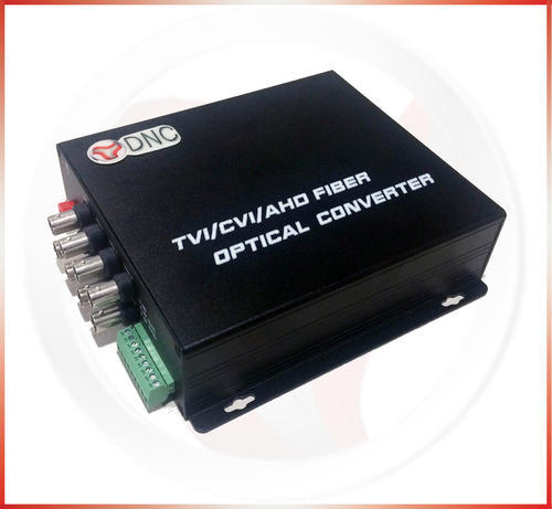 8 Channel With Data HD Video Over Fiber Converter, For Cctv