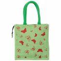 Multicolor Printed Fancy Jute Bag