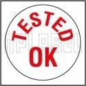 592231 Tested Ok Round Sticker, Packaging Type: Packet