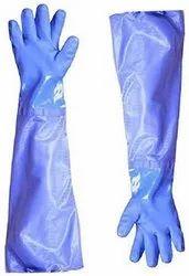PVC Blue Safety Gloves