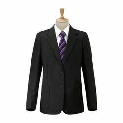 Black Full Sleeves Plain School Uniform Blazer