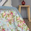Cotton Quilt Screen Printed Quilt Jaipuri Quilt Razai Blue Multi Colour Printed Quilt