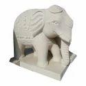 Stone Grey Elephant Statue, For Exterior Decor