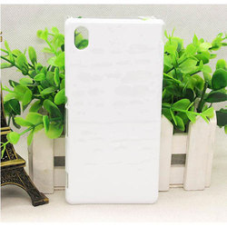 White Plastic Sublimation Plain Back Cover For Sony Xperia M4