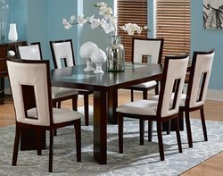 White, Brown Dining Room Set