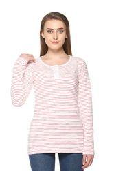 Trendy Full Sleeve Striped Women Top