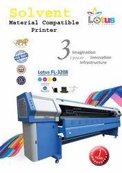 Lotus FL-3208 Using KM-512 Digital Automatic Solvent Printing Machine, Warranty: 1 Year
