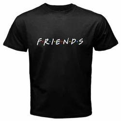 Mens Black Cotton T Shirt