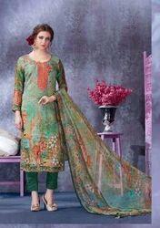 Multicolor Free Size Designer Pashmina Suit