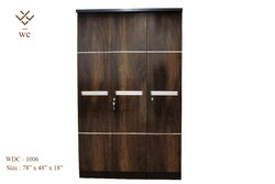 Modern Three Door Wardrobe Set With Mirror In The Middle Wooden Cupboard