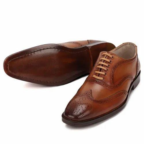Formal Leather Mens Tan Brown
