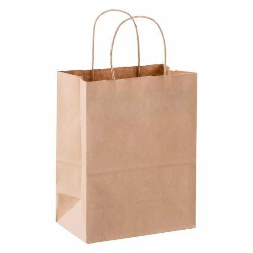 Brown Kraft Paper Bag, Rs 12 /piece, Laxmi
