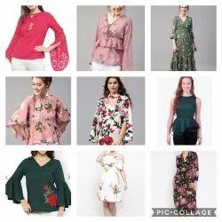 Cotton Party Wear Ladies Tops, Size: Multiple