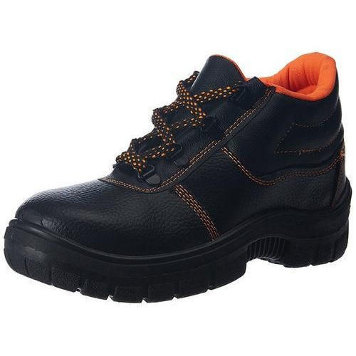 Black Men's Safety Shoes, Rs 800 /pair Imperial Fire & Safety Services |  ID: 16231311333