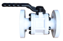 PP Flanged Ball Valve, Size: 15 Mm To 200 Mm