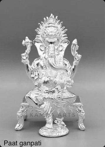 Kamba Arts 925 Silver Ganpati, Packaging Type: Box